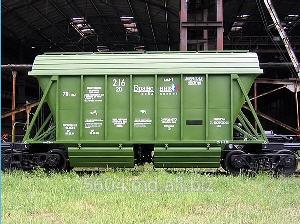 Заказать Хоппер минераловоз модель 19-923 - ремонт и наладка системы разгрузки грузовых вагонов для транспортировки минеральных удобрений.