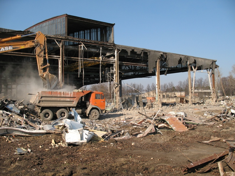 Order Export of construction debris