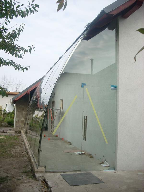 Order Installation of entrance groups: peaks, glass partitions, glazing of a winter garden