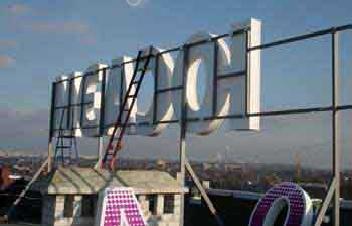 Заказать Вывески световые, объемные буквы, крышные конструкции