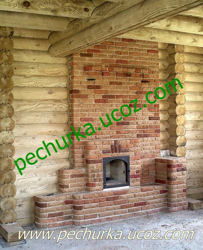 Order The heating furnace with a stove bench and chimney dverky.