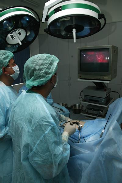 Эндоскопические операции в детской хирургии.