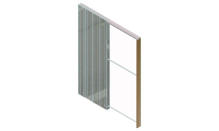 Раздвижные двери которые прячутся в стену