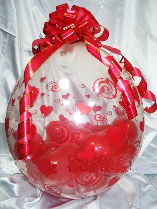 Подарок из шаров. Как Упаковать подарок в шар.
