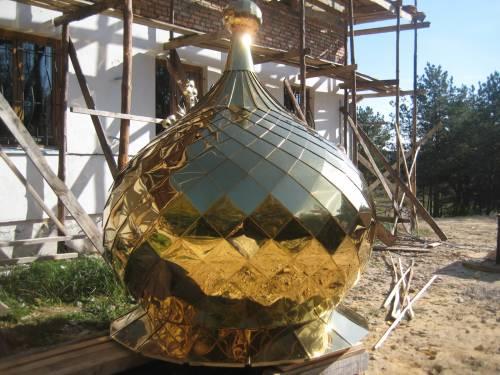 Заказать Изготовление купола, креста, подкресных шаров и листов покрытие нитридом титана