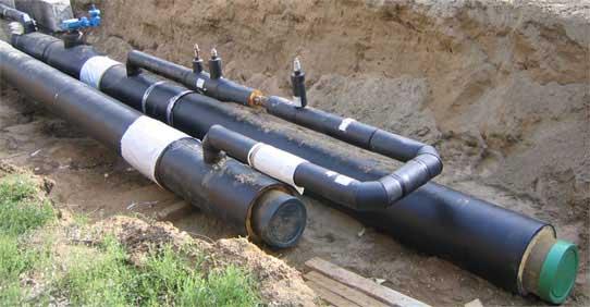 Заказать Строительство и ремонт теплосетей и теплотрасс, трубопроводов горячего водоснабжения трубами предизолированнімиППУ