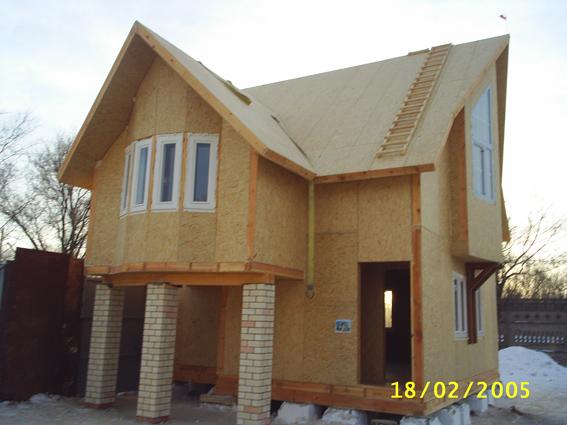 Строительство домов из СИП панелей.(SIP панель). Канадская технология. Киев.