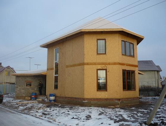 Строительство каркасных быстровозводимых домов.Быстровозводимый дом.