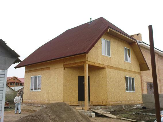Строительство дачных домиков.Домики дачные комплектные.Каркасно-панельная технология.