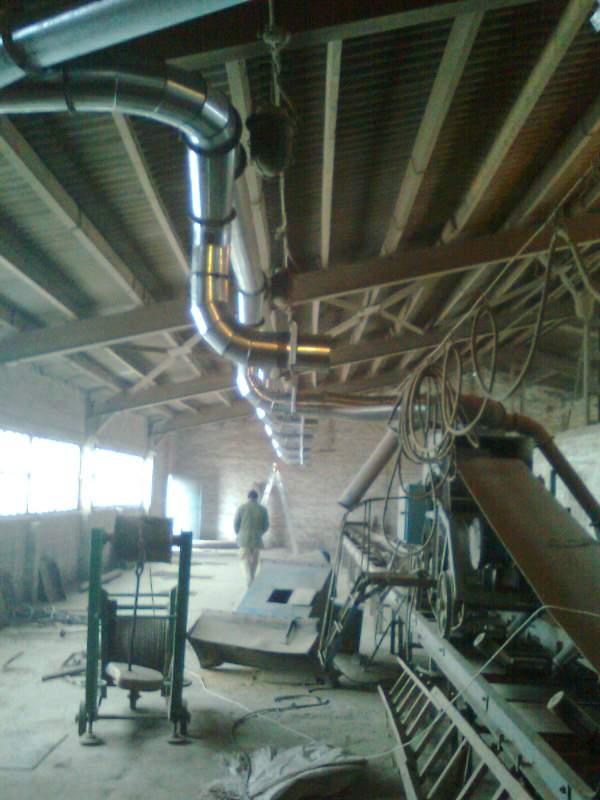 Заказать Изготовление элементов вентиляционных, аспирационных сетей, пневмотранспорта и других элементов из нержавеющей оцинкованной листовой стали.