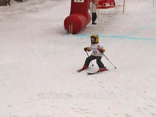 Заказать Организация и проведение соревнования по горным лыжам (до9лет)