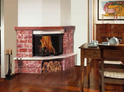 Order Facing of furnaces, fireplaces