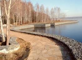 Укрепление берега, услуги по укреплению береговой линии,  укрепить берег Одесса область