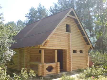 """Строительство дачных домиков """"под ключ"""". Проектирование и строительство деревянных домов из оцилиндрованного бревна собственного производства разного диаметра. Возможность просмотра построенных коттеджей. Цены антикризисные."""