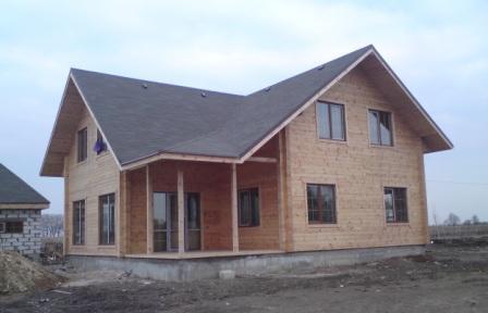 """Общестроительные работы. Строительство деревянных домов """"под ключ"""". Украина. Проектирование и  строительство коттеджей из клееного профилированного бруса. Возможность просмотра построенных домов."""
