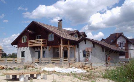 Строительство энергосберегающих домов. Украина, Киев. Проектирование и cтроительство коттеджей по канадской деревянно-каркасной технологии «под ключ». Возможность просмотра построенных домов. Цены антикризисные.