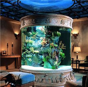 效果图   鱼缸玄关装修效果图   客厅入户门玄关鱼缸隔断摆放
