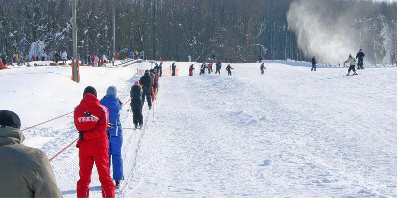 Заказать Обучение катанию на горных лыжах