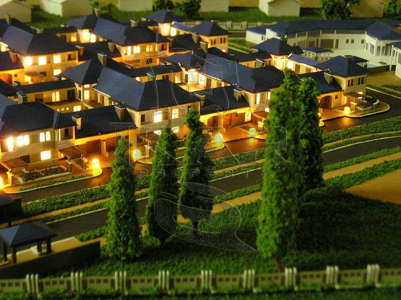 Order Architectural presentation model of the cottage town