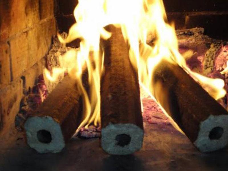 Заказать Брикеты топливные из хвойных пород древесины, диам. 60 мм, упакованы в биг-беги