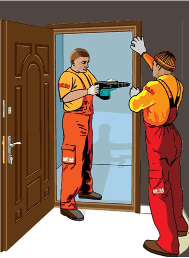 Заказать Установка дверей