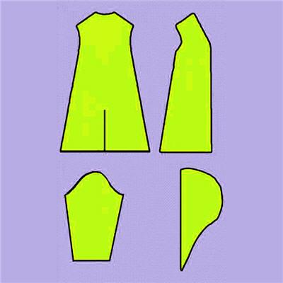 Схема простого платья сшить