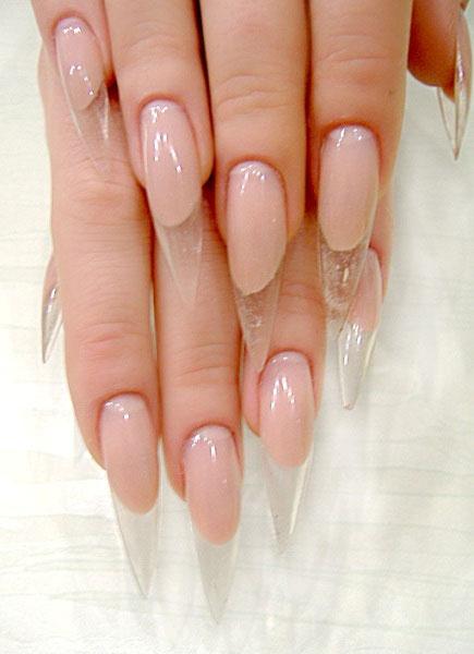 Прозрачные гелевые ногти