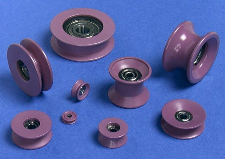 Шкивы, ролики, втулки, кольца упорные из полиуретана
