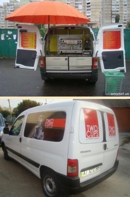 Заказать Переоборудование авто для Мобильной кофейни