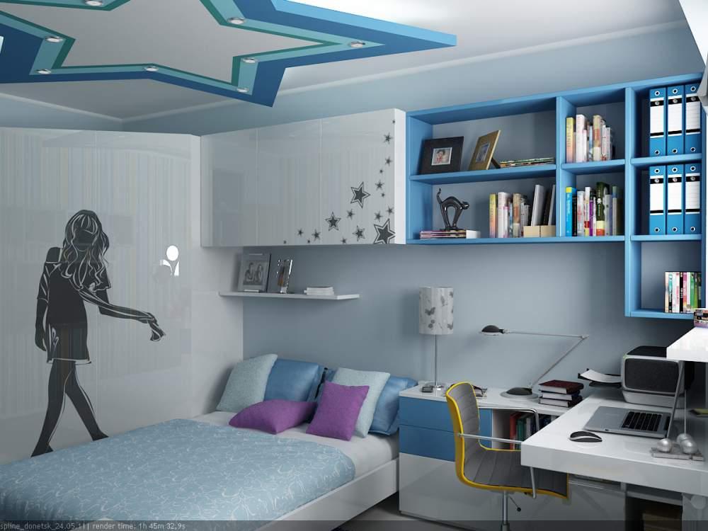 Дизайн подростковой комнаты для девочки и мальчика