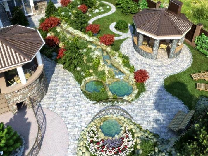 Kiev 우크라이나 정원 조경 설계 주문하기. 가격, 정원 조경 설계 ...