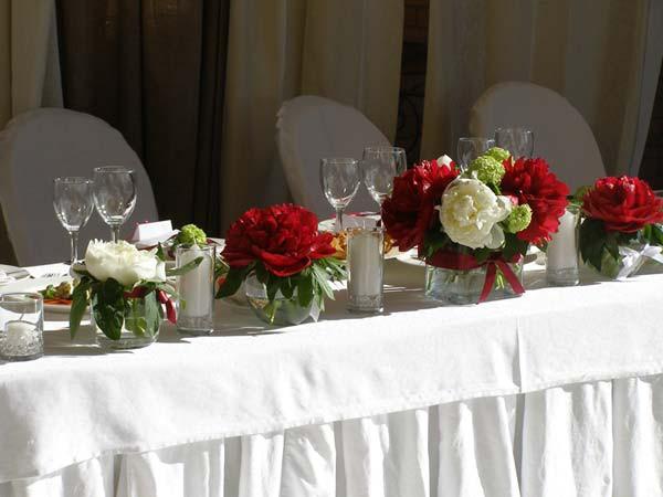 Свадебные столы оформление