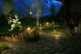 Заказать Вечерняя подсветка цветников и клумб