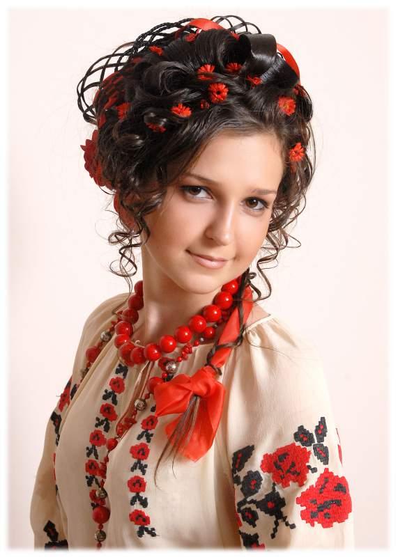 славянские прически фото