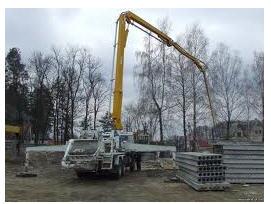 Заказать Работа бетононасоса на объекте