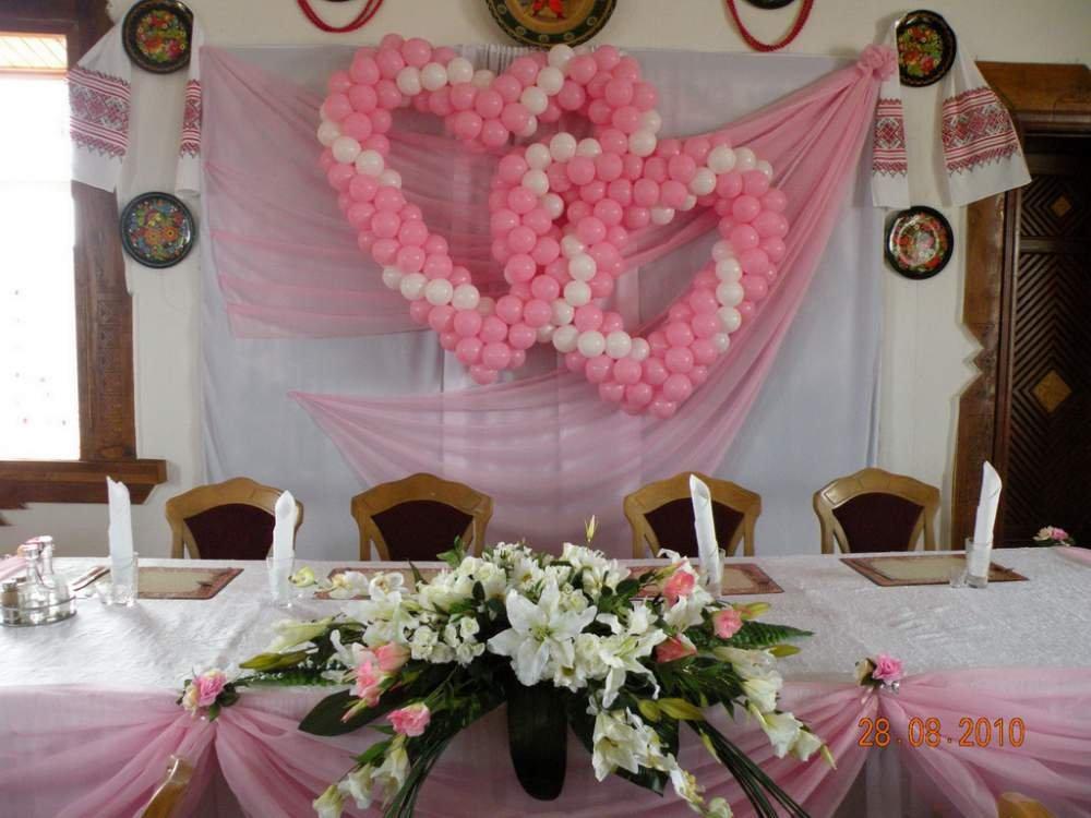 Заказать Оформление свадебного зала. Цена доступная.