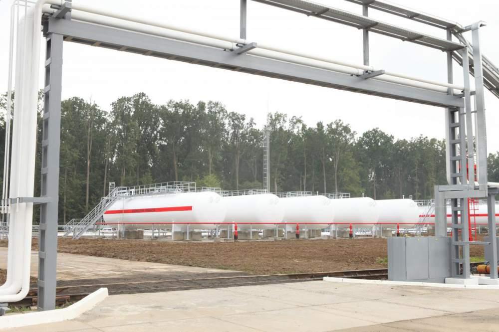 Хранение сжиженного углеводородного газа (СУГ) резервуарный парк.