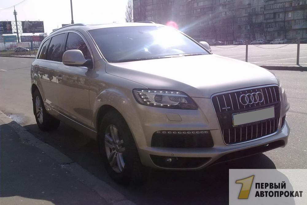 Order Rent, hire of Audi Q7
