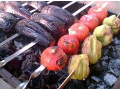 Заказать Организация питания туристов - овощи на гриле