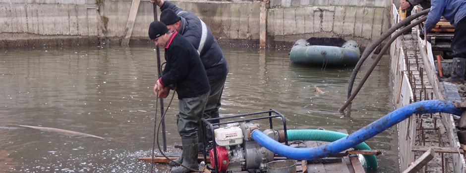 Заказать Очистка водоемов от ила Киев, удаление ила, чистка озер, прудов, рек, каналов, доков, причалов