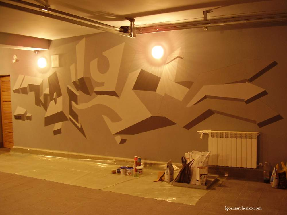 Декор стен в гараже
