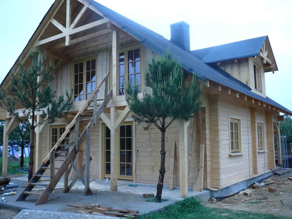 Заказать Строительство дачных домиков из прямоугольного бруса