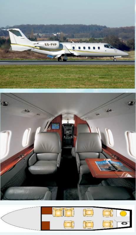 Аренда воздушного судна Learjet 60