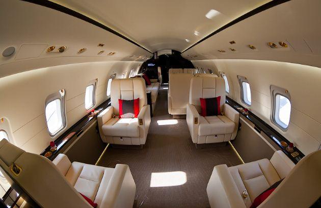 Заказать Перетяжка салона самолета, перетяжка кресел самолета, Украина, Киев, перетяжка мебели частный самолет