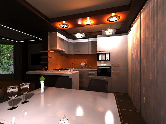 Заказать Дизайн кухни, столовой, студии