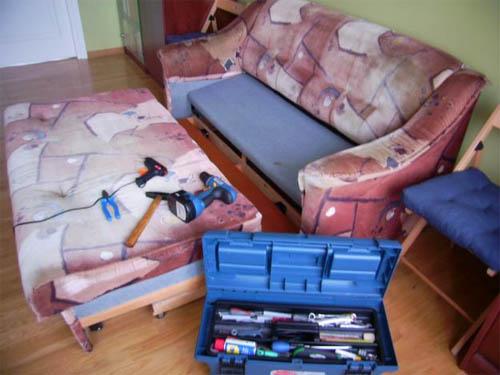 Ремонт провалившегося дивана своими руками