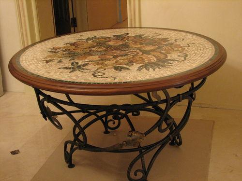 Заказать Столы из мозаики, изготовление мебели с элементами мозаики под заказ, Тернополь