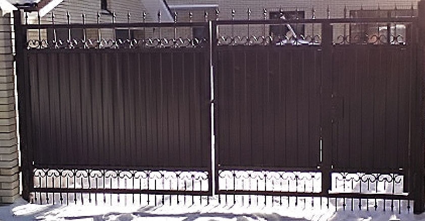 Заказать Установка ворот вьездных распашных Киев Киевская область, Макаров от компании Элитный Забор