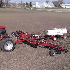 Introduction of organic fertilizers. Introduction of anhydrous ammonia