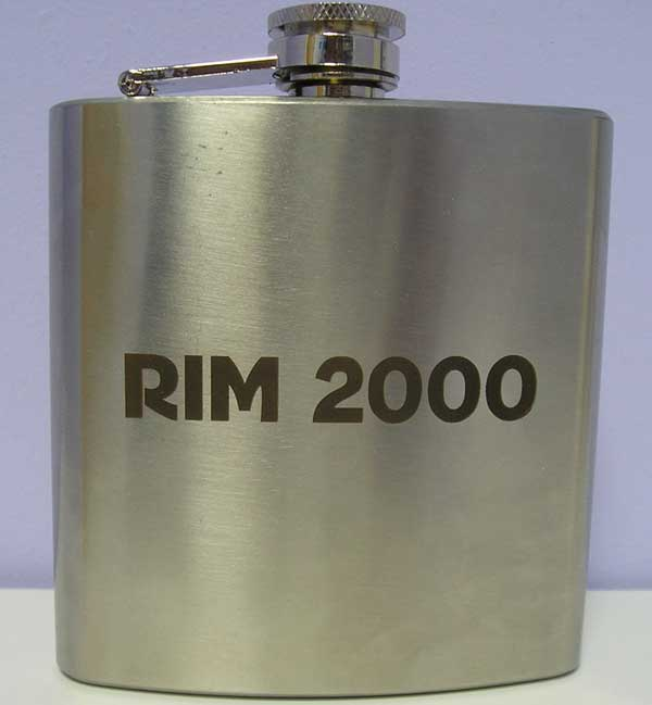 Laser engraving on souvenir products flasks, hours and so forth.